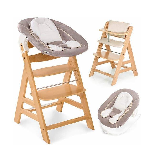 Hauck Alpha+ Trio: High Chair + Tray + Bouncer - 2