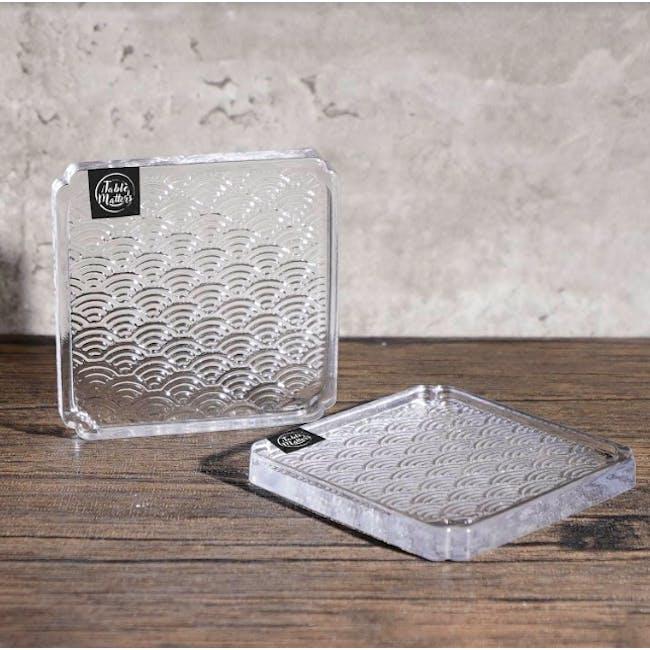 Table Matters Taikyu Wave Glass Coaster - 1