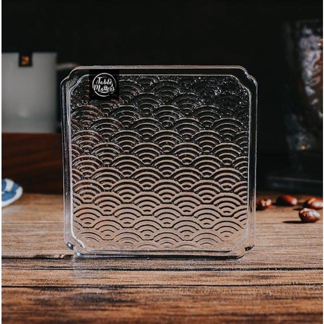 Table Matters Taikyu Wave Glass Coaster - 3