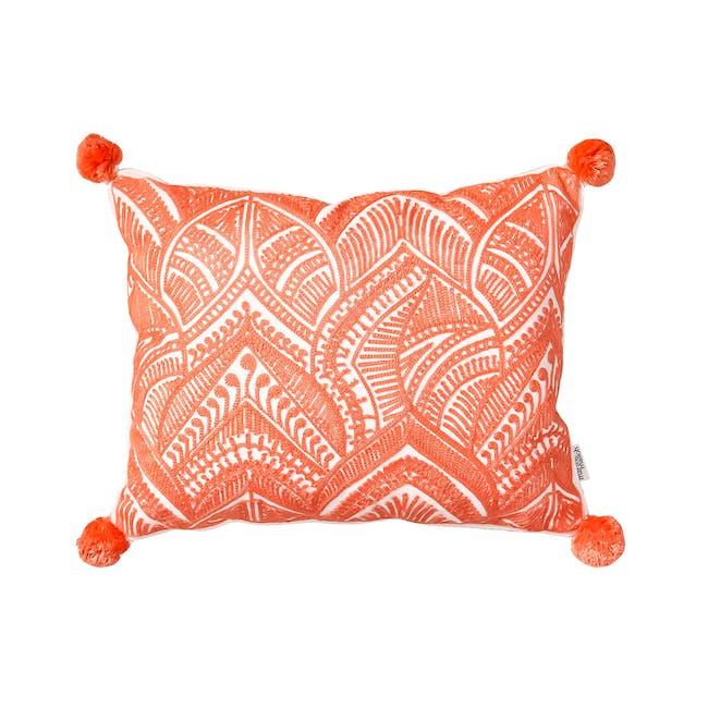 Muir Beach Throw Cushion - Coral - 0