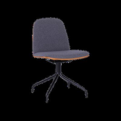 Crown Swivel Dining Chair - Walnut, Battleship Grey, Black - Image 2