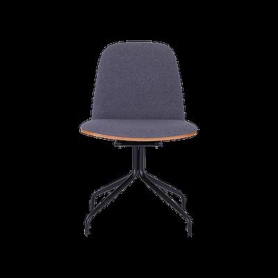 Crown Swivel Chair - Walnut, Battleship Grey, Black - Image 1