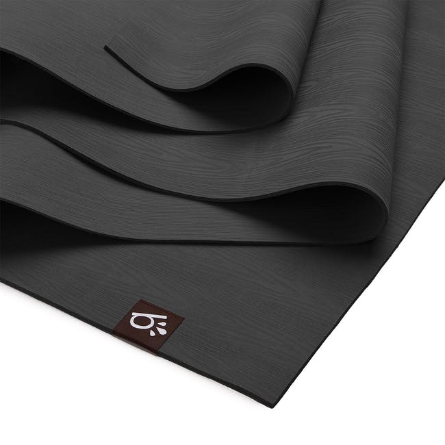 Beinks b'EARTH Natural Rubber Yoga Mat - Dark Grey - 1