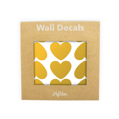 Peaches Heart Wall Decal (Pack of 60) - Gold