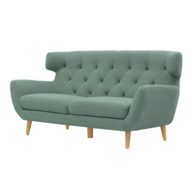 Agatha 3 Seater Sofa with Agatha Armchair - Jade - Image 2