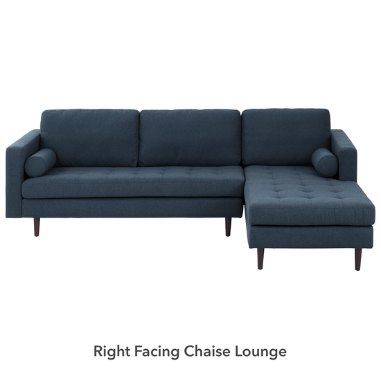 Nolan L-Shaped Sofa - Oxford Blue (Fabric)