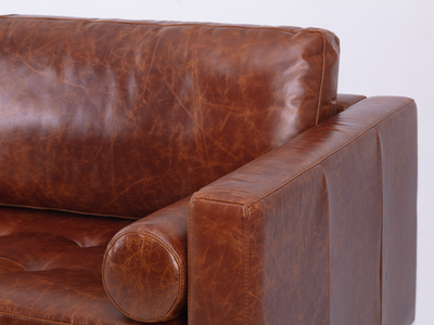 Nolan 3 Seater Sofa - Cigar (Premium Leather) - Image 2
