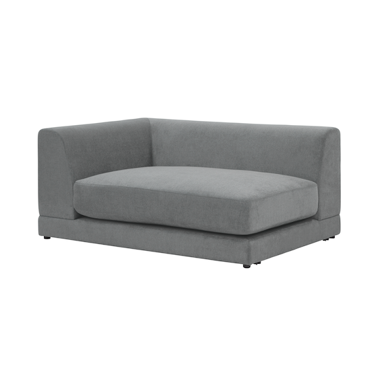 Abby Chaise Sofa Grey