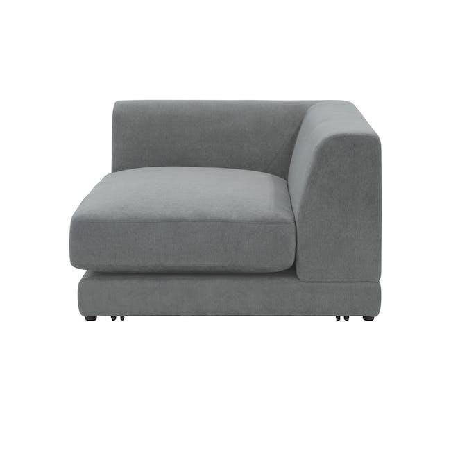 Abby Chaise Lounge Sofa - Stone - 5