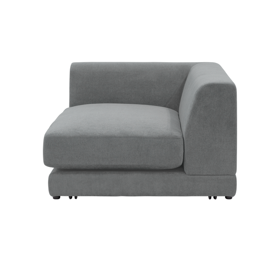 Abby Chaise Lounge Sofa - Stone