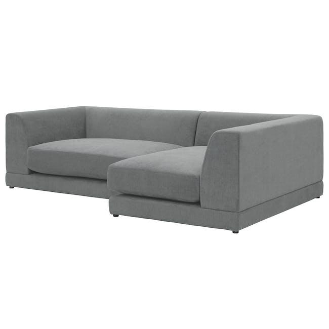 Abby Chaise Lounge Sofa - Stone - 7