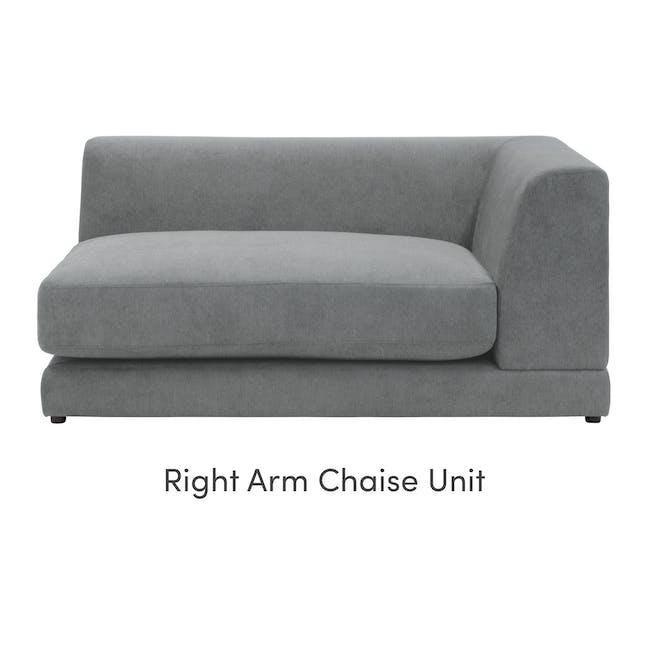Abby Chaise Lounge Sofa - Stone - 9