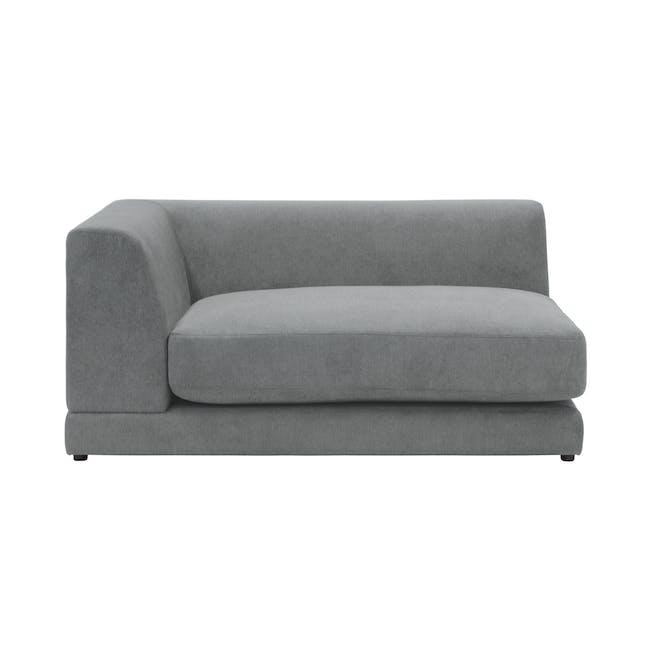 Abby L-Shaped Lounge Sofa - Stone - 5