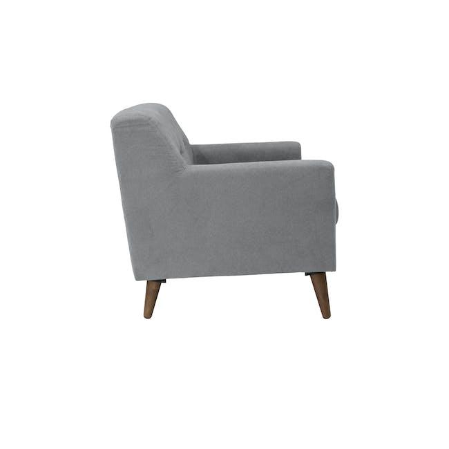 Damien 2 Seater Sofa - Heather Grey - 4