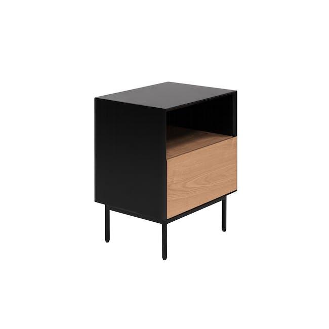 Lewis Bedside Table - Black, Oak - 2