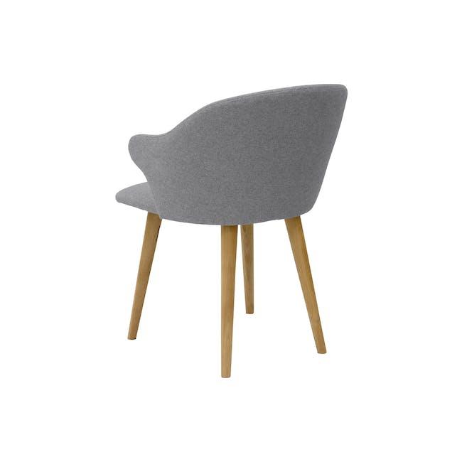 Runa Dining Armchair - Oak, Dolphin Grey - 5