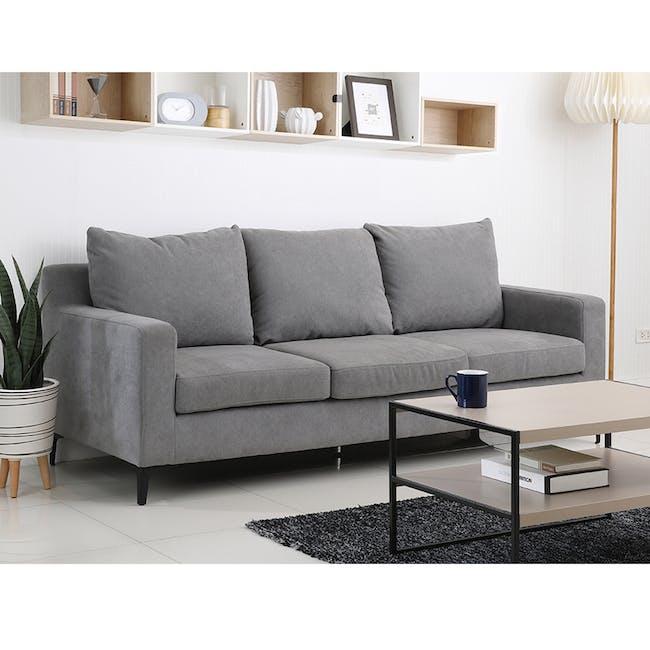 Viva 3 Seater Sofa - Light Grey - 1
