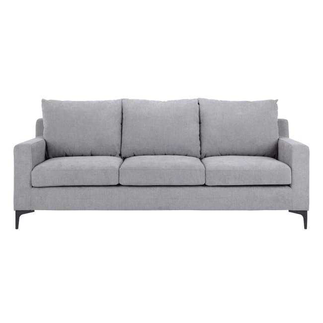 Viva 3 Seater Sofa - Light Grey - 0