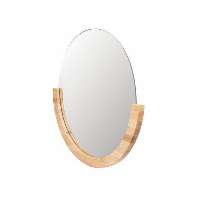 Mira Round Mirror 53 cm - Natural - 2
