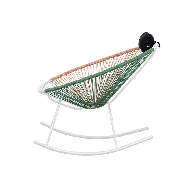 Acapulco Rocking Chair - Pink, White, Green Mix - 3