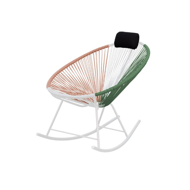 Acapulco Rocking Chair - Pink, White, Green Mix - 1