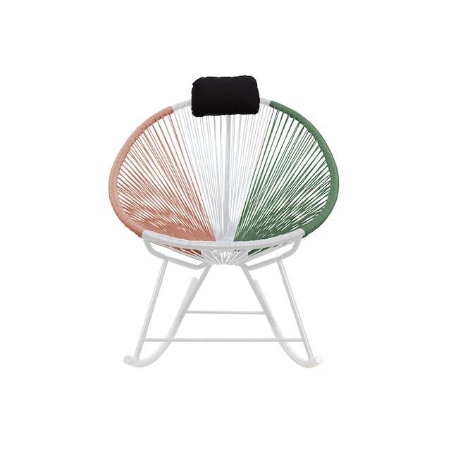 Acapulco Rocking Chair - Pink, White, Green Mix - 0