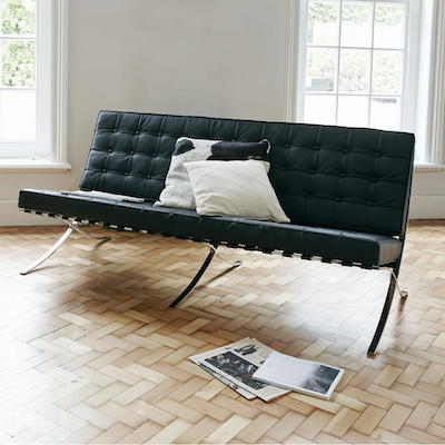 Barcelona 3 Seater Sofa - Italian Leather - Image 2