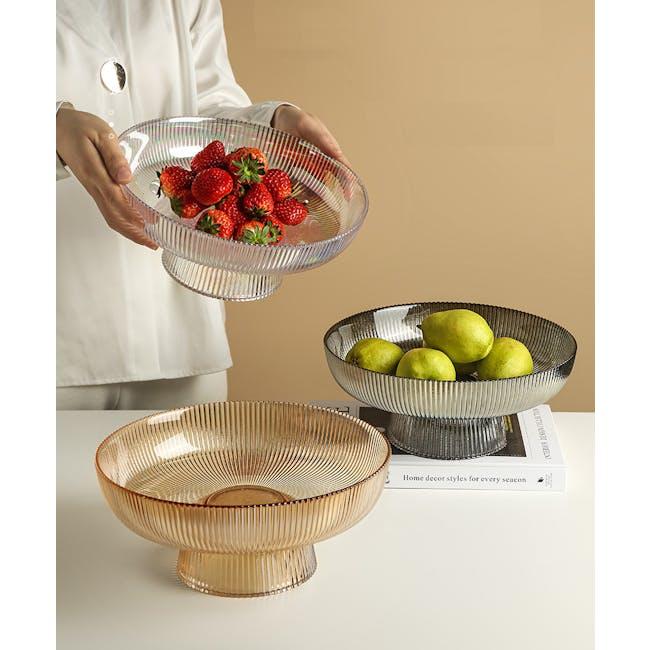 Reagan Glass Fruit/Display Bowl - Grey - Large - 3