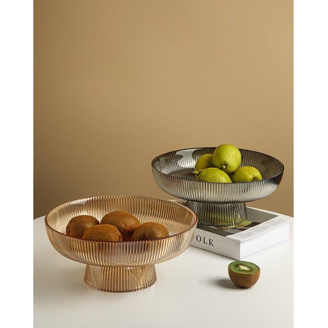 Reagan Glass Fruit/Display Bowl - Grey - Large - 4