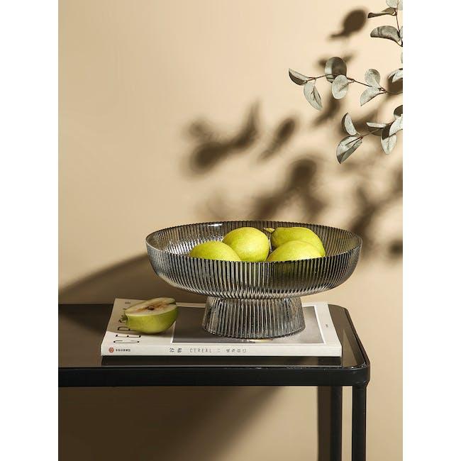 Reagan Glass Fruit/Display Bowl - Grey - Large - 1