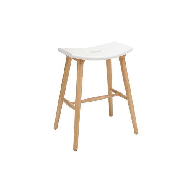 Holly Counter Stool - Natural, White - 2