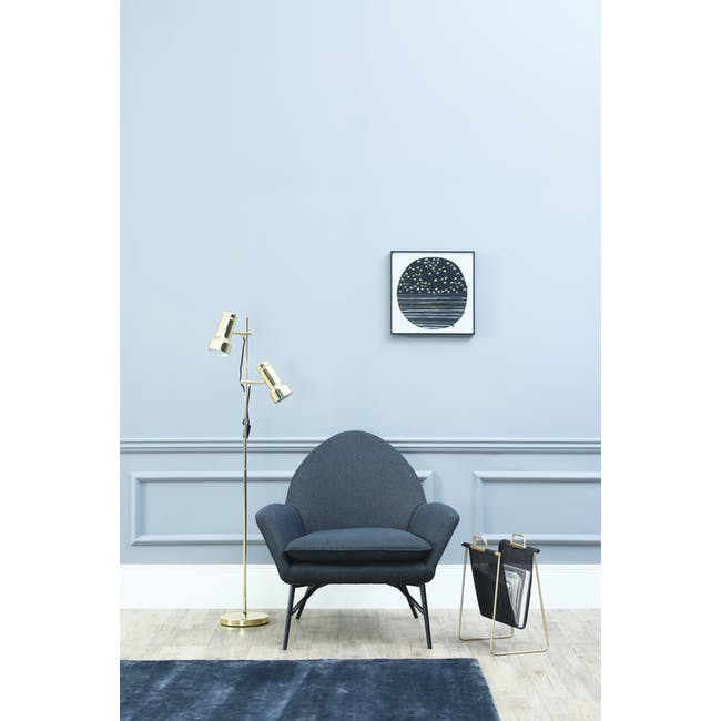 Esther Lounge Chair - Midnight Blue - 4