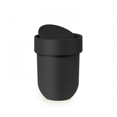 Touch Can with Lid - Black - Image 2
