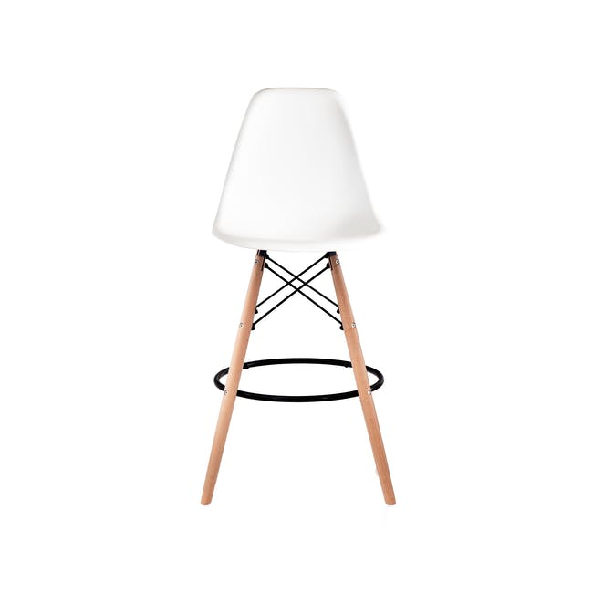 DSW Low Bar Chair Replica - White - 1