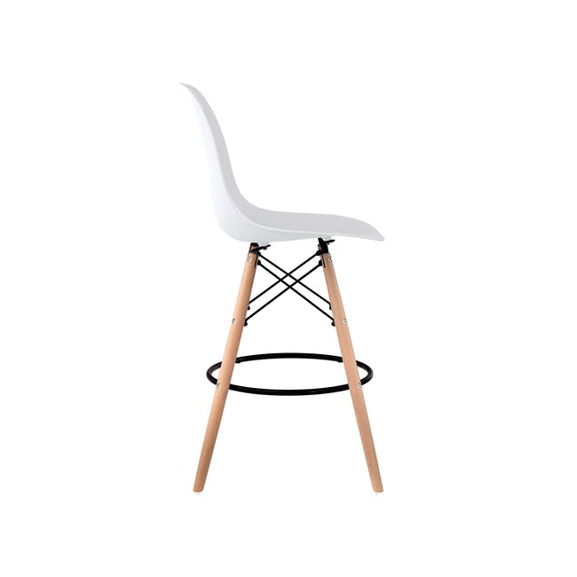 DSW Low Bar Chair Replica - White - 2