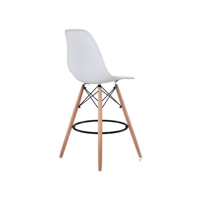 DSW Low Bar Chair Replica - White - 3
