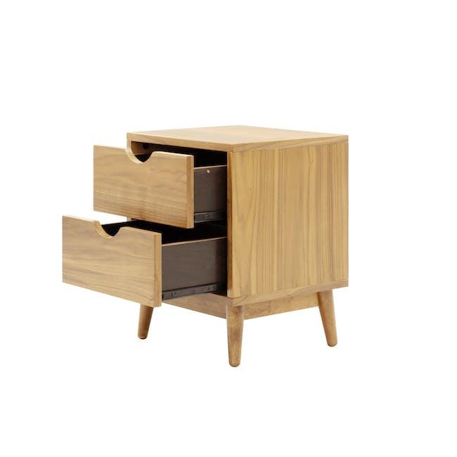 Kyoto Twin Drawer Bedside Table - Oak - 3