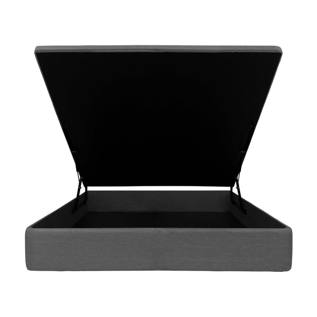 ESSENTIALS Super Single Storage Bed - Grey (Fabric) - 1
