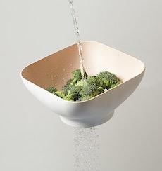 Diga Salad Bowl with Strainer- Mint
