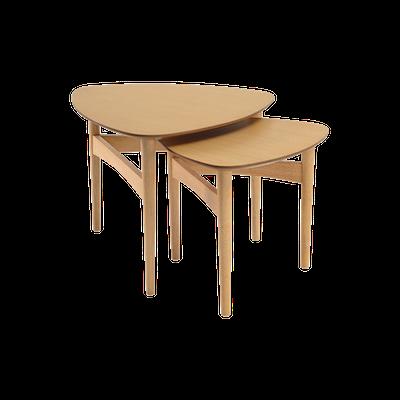 Poet Occasional Table Set - Oak - Image 1