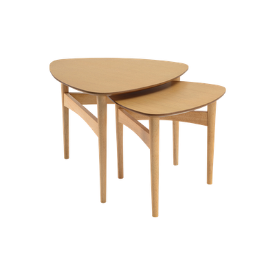 Poet Occasional Table Set - Oak - Image 1