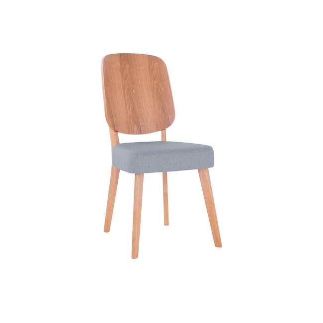 Theodore Dining Chair- Oak, Light Grey - 0