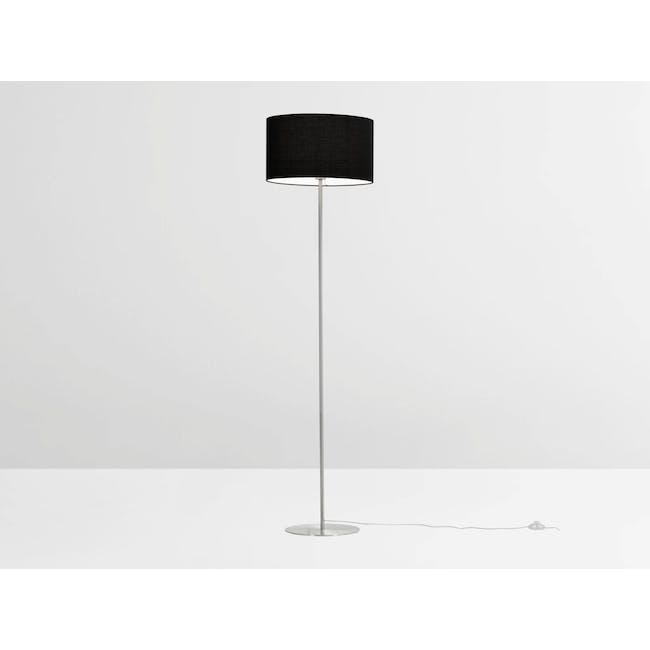Reese Floor Lamp - Black, Nickel - 4