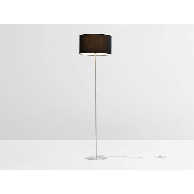 Reese Floor Lamp - Black, Nickel - 3