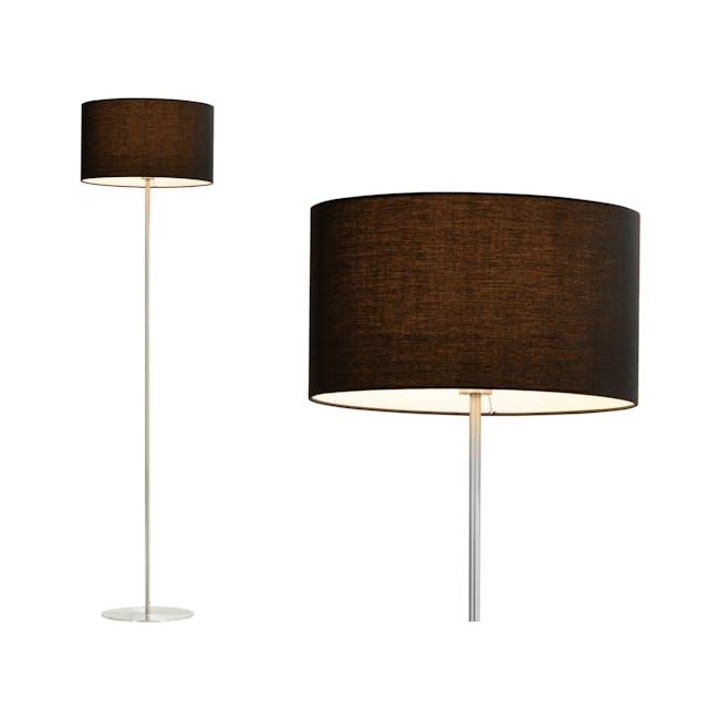 Reese Floor Lamp - Black, Nickel - 0