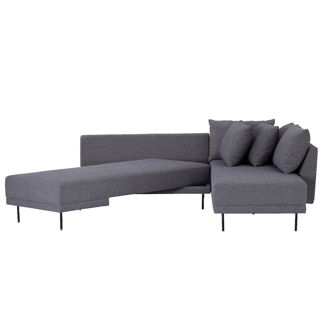 Antwon L-Shaped Sofa Bed - Grey (Easy Clean Fabric) - 1