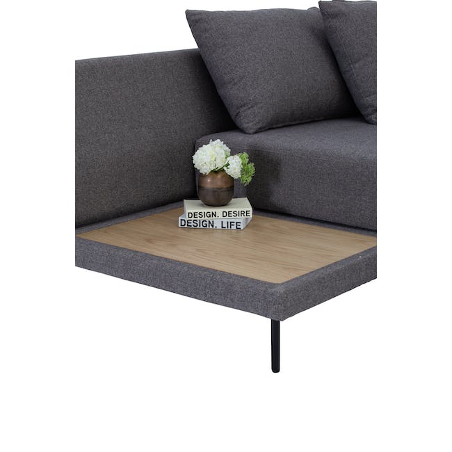 Antwon L-Shaped Sofa Bed - Grey (Easy Clean Fabric) - 4