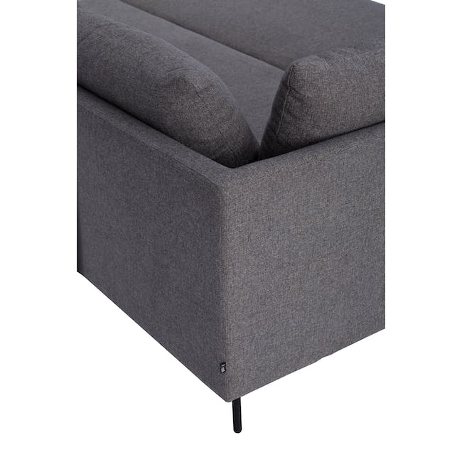 Antwon L-Shaped Sofa Bed - Grey (Easy Clean Fabric) - 5