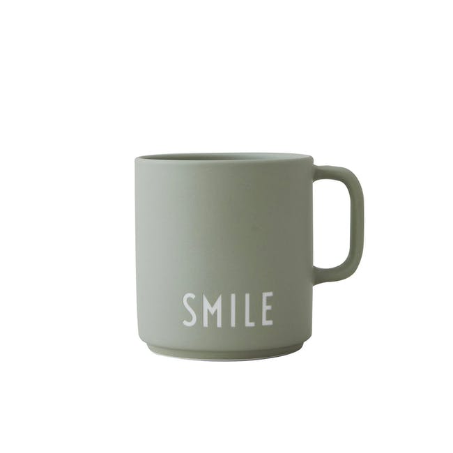Favourite Cup With Handle - Green (Smile) - 0