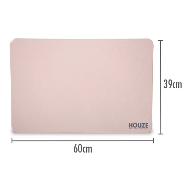 Diatomite Absorbent Mat - Pink - 1